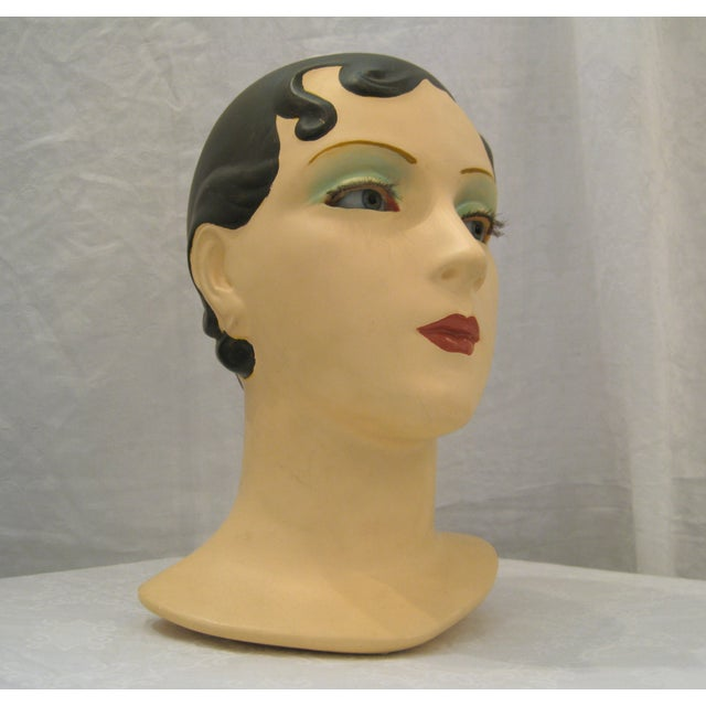 Brunette Vintage Mannequin Head - Image 6 of 6