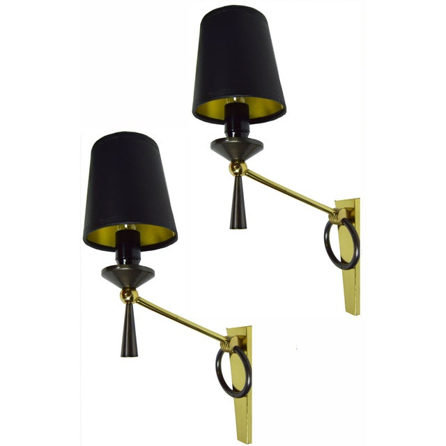 Image of J.Adnet French Vintage Sconces - Pair