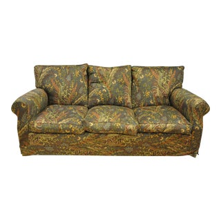 Retro Floral Patterned Sectional Couch