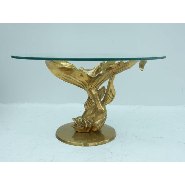 Brass & Glass Koi Fish Coffee Table