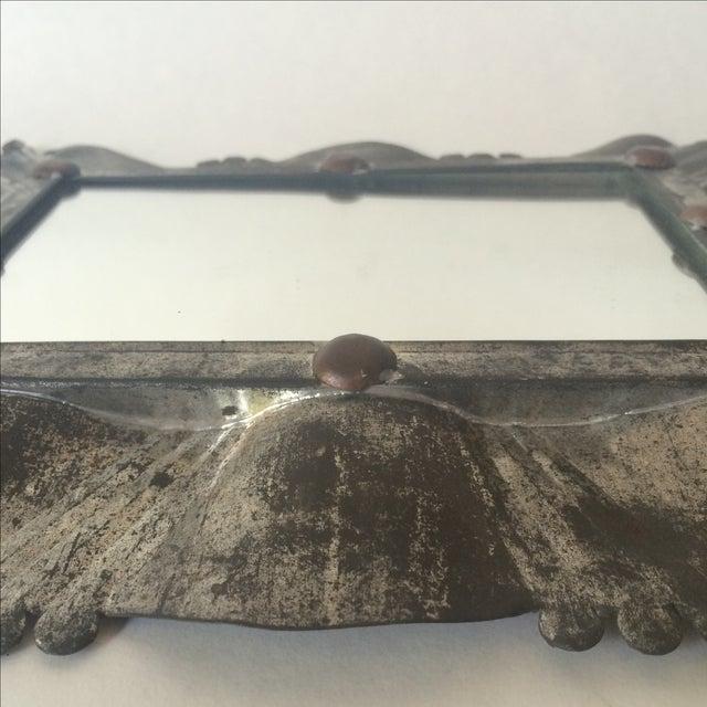 Vintage Tin & Copper Mirror - Image 9 of 11