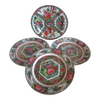 Porcelain Famille Rose Wall Plates - S/4