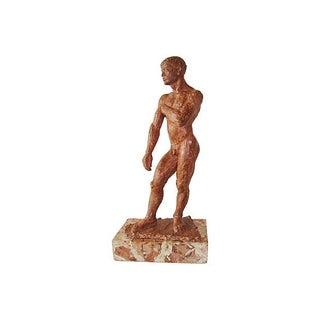 Nude Male Figure Sculpture in Hydro-stone