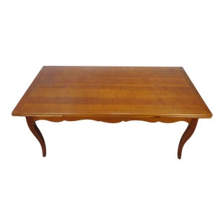 French Country Grange Furniture Cherry Refectory Draw Leaf Dining Room Table