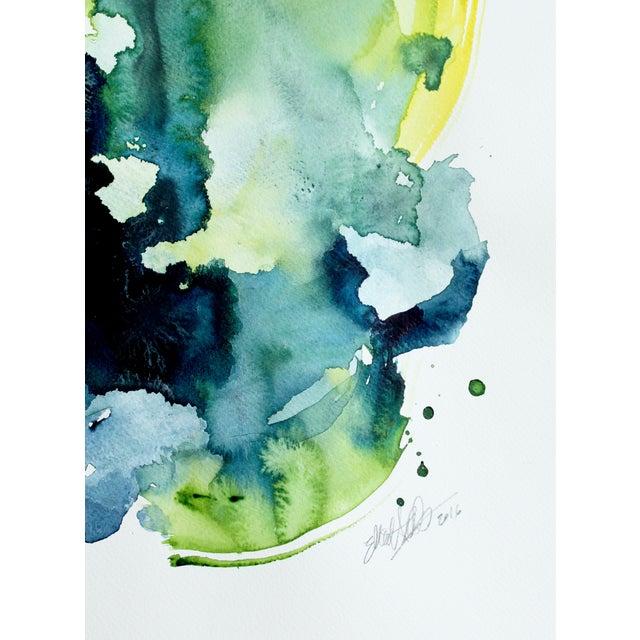 "Ellen Sherman ""Verdant 2"" Watercolor Painting - Image 3 of 3"