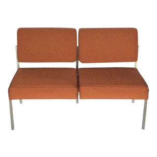Vintage Steelcase Office Settee