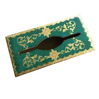 Emerald Florentine Tissue Box