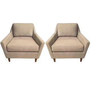 Mid-Century Modern Gray Chairs - A Pair
