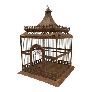 Vintage Victorian Style Metal Birdcage