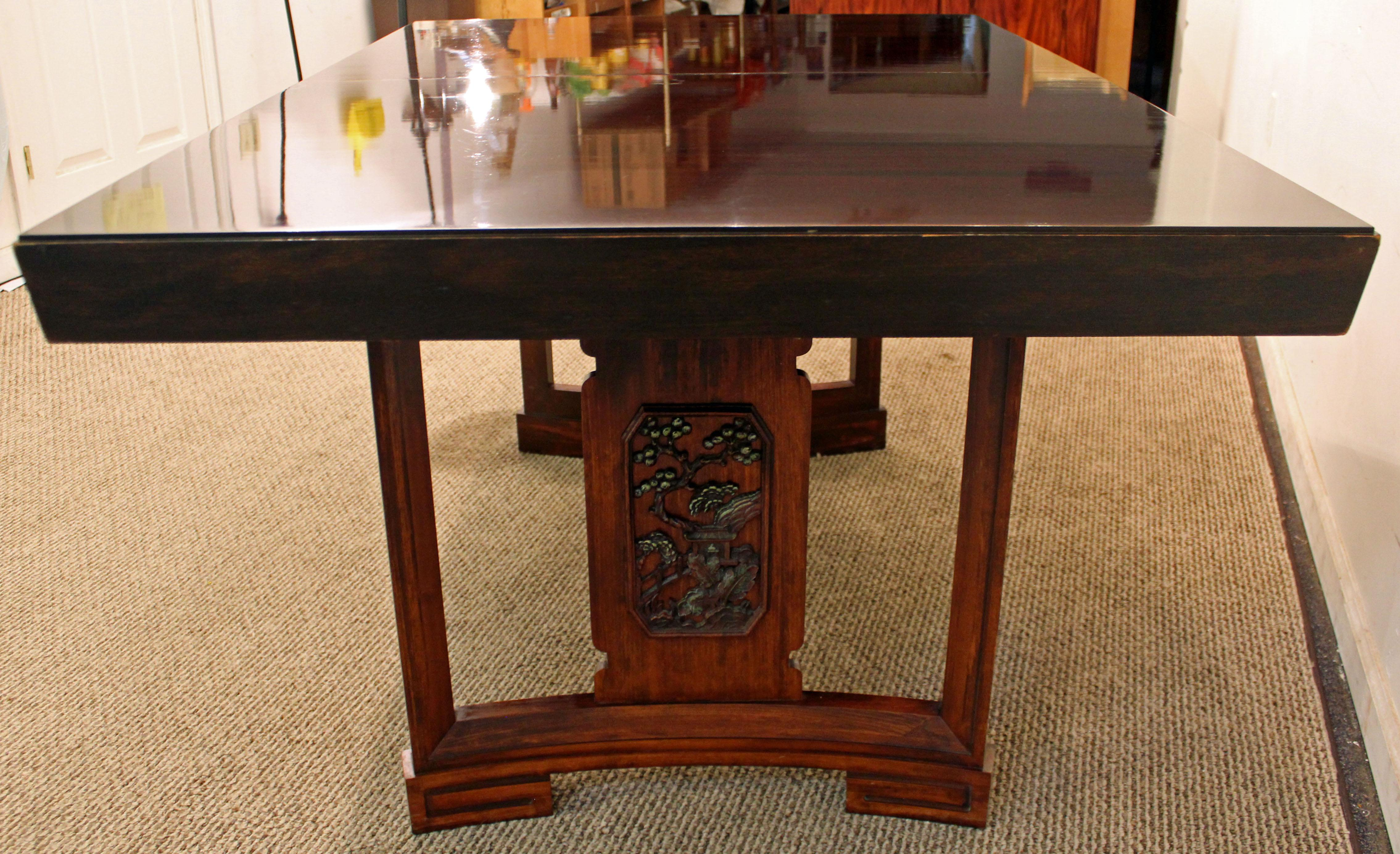 James Mont Mid Century Modern Asian Ming Style Mahogany Dining Table By  Thomasville