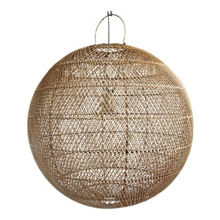 Silang Rattan Globe Lantern XL