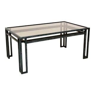 Mid-Century Modern Cerused Oak Coffee Table