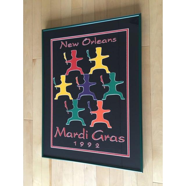 Image of 1992 Mardi Gras Poster - Framed