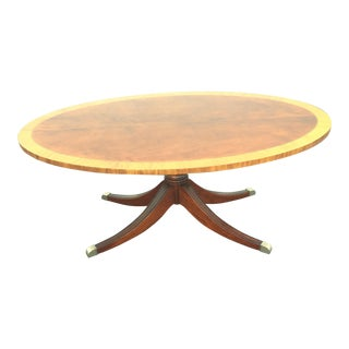 Swirled Mahogany Oval Coffee Table