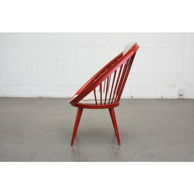 Swedish Red Hoop Lounge Chair - Image 4 of 11