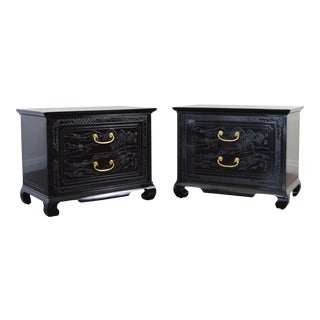 Drexel Chinoiserie Side Tables - A Pair