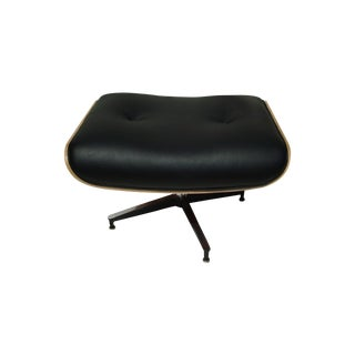 New Eames Style Black Leather Ottoman