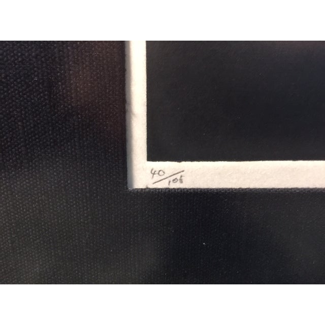 "Haku Maki's Embossed Woodblock Print ""Poem 70-72"" - Image 6 of 8"