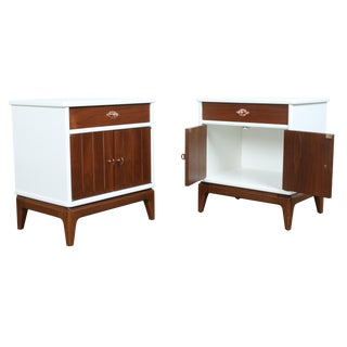 Mid Century Nightstands - Pair