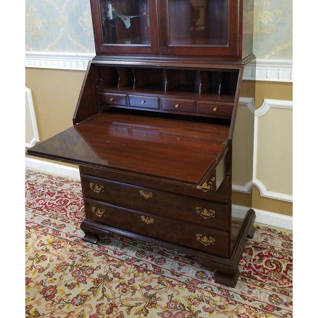 Ethan Allen Cherry Georgian Court Secretary Desk - Image 7 of 8