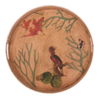 Chinoiserie Round Serving Tray