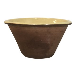 Large Irish Yellow Ware Teracotta Bowl