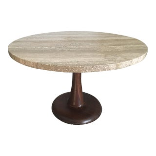 Nanna Ditzel Travertine Danish Mid-Century Modern Table