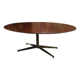Florence Knoll Oval Solid Walnut Table