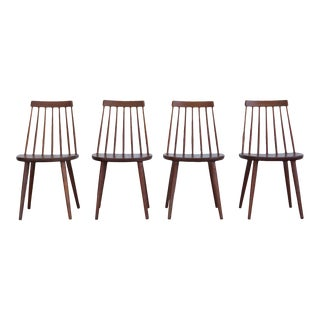 Swedish Spindle Back Dining Chairs - Set of 4