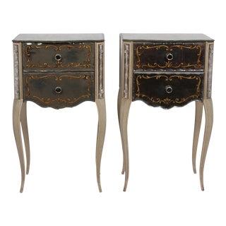 Mirrored Glass Night Stands by Marchand, American 1940s