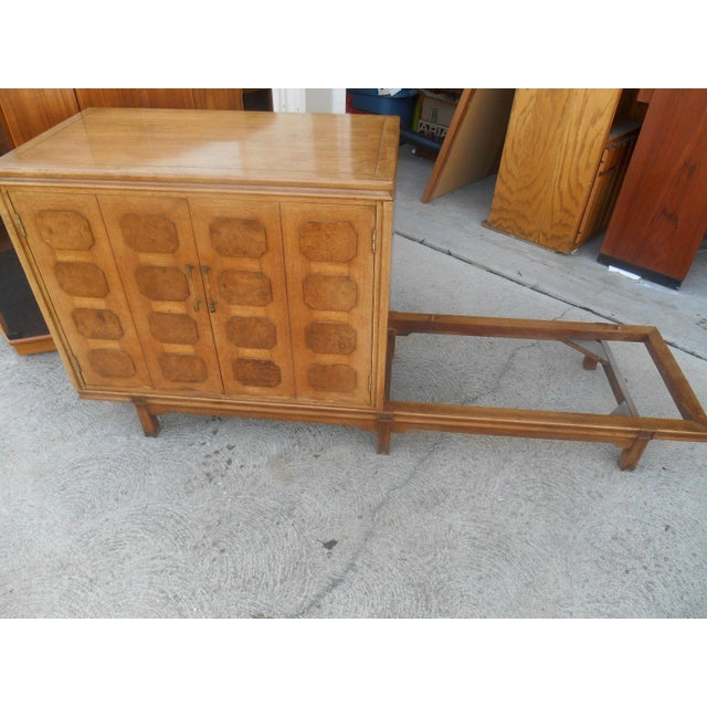 MCM Thomasville Floating Dual Credenza - Image 5 of 6