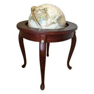 Floor Standing World Globe & Hardwood Stand