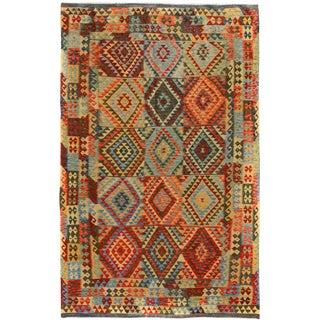 Kilim Arya Devon Blue & Gray Wool Rug - 6'7 X 9'9