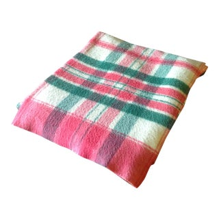 Vintage Plaid Picnic/Gameday Blanket
