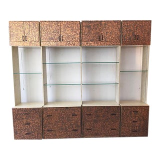 Brutalist Bookcase Wall Unit - Set of 4