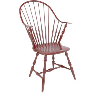 Shaker-Style Windsor Captain's Chair in Red