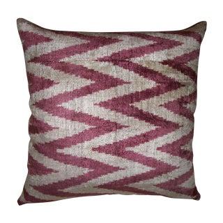 Flame Stitch Silk Velvet Ikat