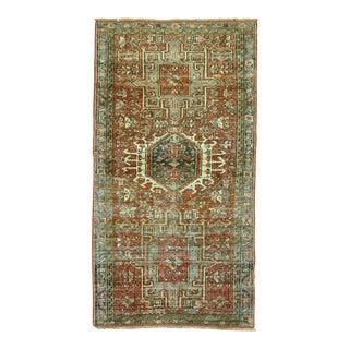 """Antique Persian Heriz Rug - 2'1"""" x 3'9"""""""