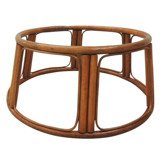 Vintage Round Bamboo Coffee Table Base Chairish