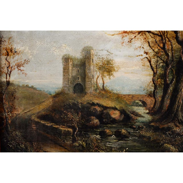18th-C. Castle Ruins Oil Painting - Image 3 of 9