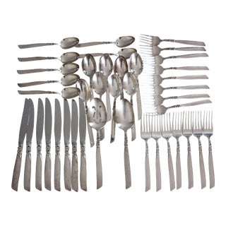 Community Mid-Century Silverplate Flatware Set - 41 Pieces
