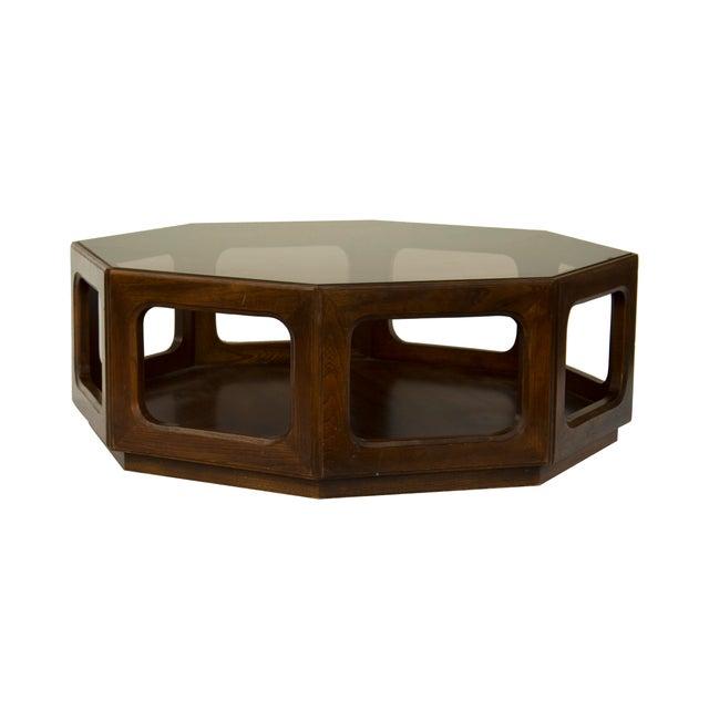 lane walnut octagonal coffee table chairish