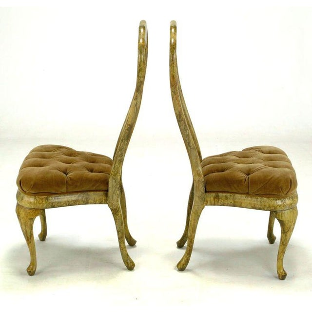 Four Phyllis Morris Oil-Drop Lacquered Queen Anne Chairs - Image 5 of 9
