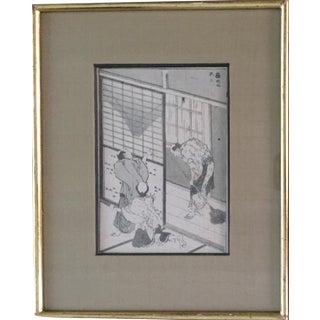 19th-Century Japanese Woodcut Print