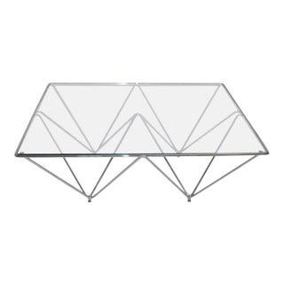 Chrome & Glass Geometric Coffee Table