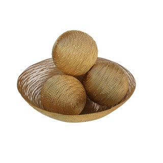 Gold Wire Bowl With Balls
