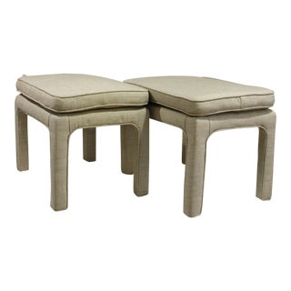 Upholstered Parson Style Stools - A Pair