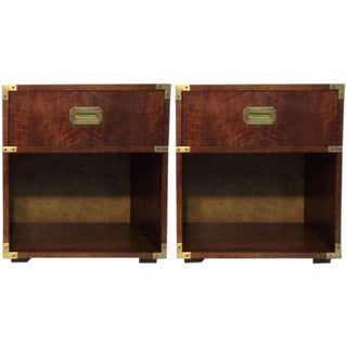 Henredon Campaign Nightstands - A Pair