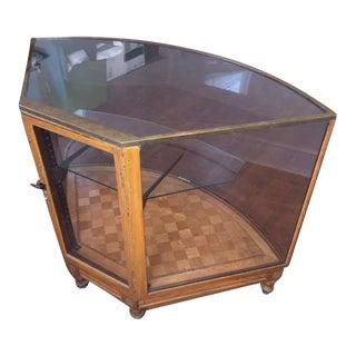 London Brass & Wood Display Case