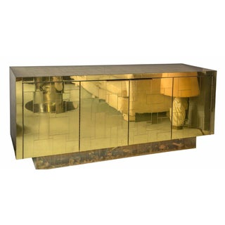1970s Signed Paul Evans Cityscape Credenza